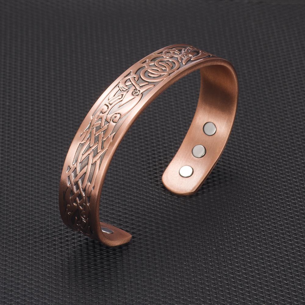 Vintage Pure Copper Bracelet Health Energy Magnetic Open